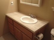 2012 Bathroom Vanity Tile Install