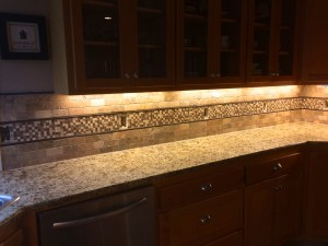 2013 Fancy Tile Backsplash Install