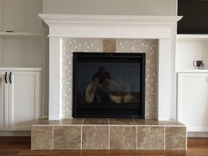 2013 Tile Fireplace Install